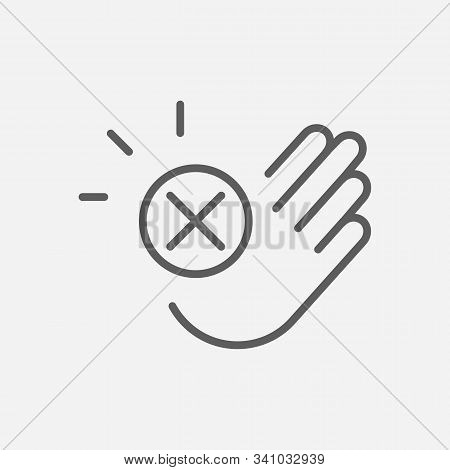 Decline Icon Line Symbol. Isolated Vector Illustration Of Icon Sign Concept For Your Web Site Mobile