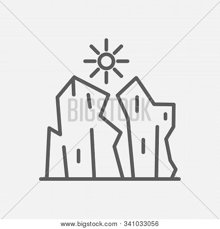 Grand Canyon Icon Line Symbol. Isolated Vector Illustration Of Grand Canyon Icon Sign Concept For Yo