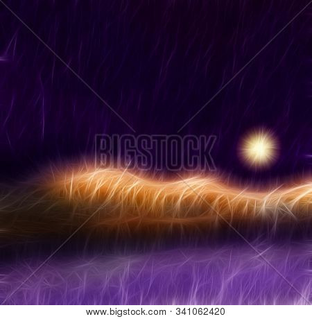 Abstract Landscape with heavy texture. 3D rendering