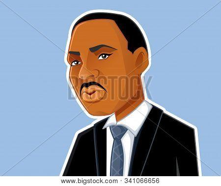 Georgia, Us, December 22, 2019, Martin Luther King Jr Vector