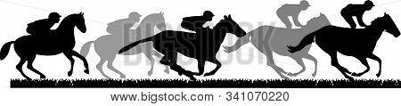 Horsemen Icon Isolated On White Background Pet, Player, Pony, Race