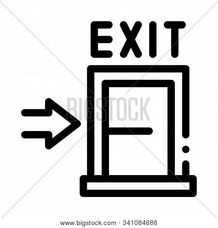 Fire-escape Exit Door Icon Vector. Outline Fire-escape Exit Door Sign. Isolated Contour Symbol Illus