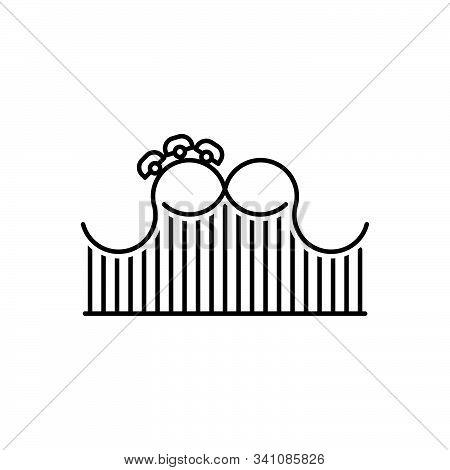 Black Line Icon For Roller-coaster Roller Coaster Funfair  Theme-park