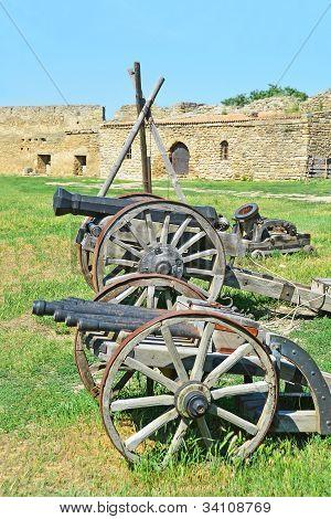 Ancient artillery cannon