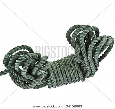 skein of rope  isolated over white