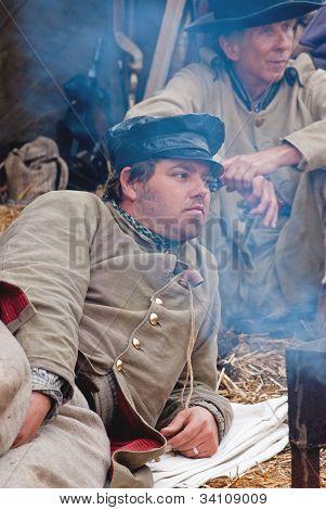 Annual Civil War re-enactment in Moorpark, California on November 11, 2011.