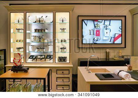 HONG KONG, CHINA - CIRCA JANUARY, 2019: interior shot of Jo Malone store in Elements shopping mall.
