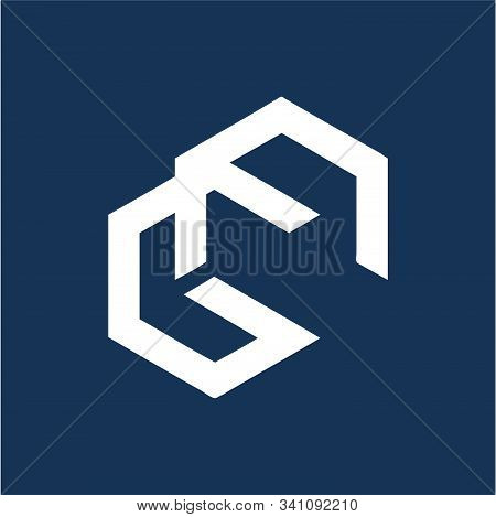 Gn, Ng, Gc Initials Geometric Letter Company Logo