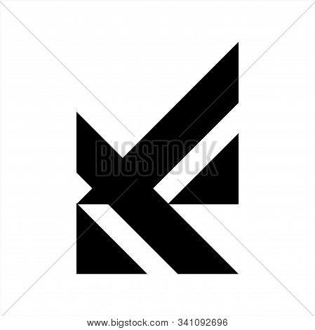 Av, Va Initials Geometric Letter Company Logo