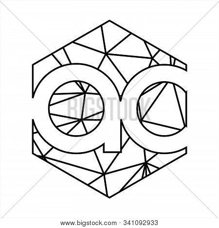 Ac Initials Triangle Geometric Line Art Logo