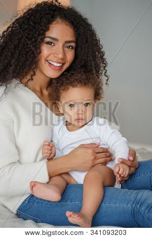 Love of a mother and child, baby. Family at home. Lifestyle