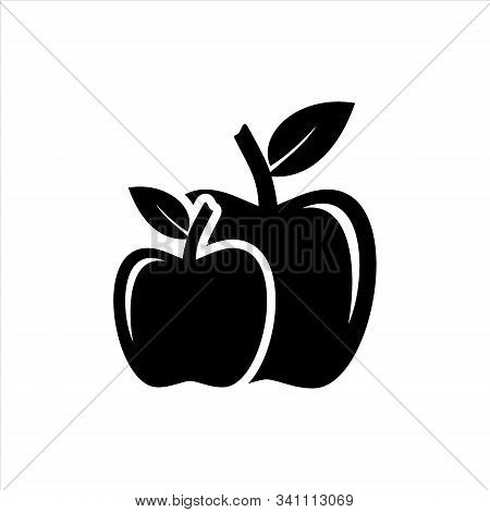 Apple Icon Isolated On White Background, Apple Fruits Vector Icon, Apple Icon Image, Apple Vector De