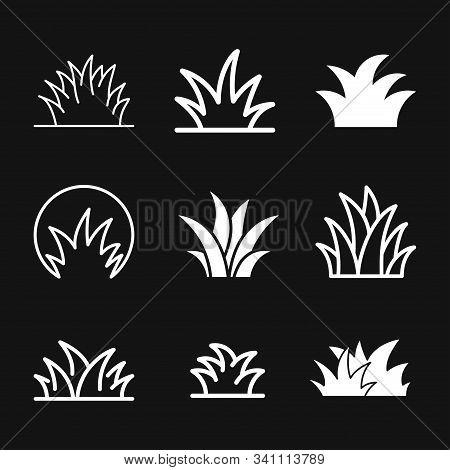Grass Icon, Eco Symbol Of Grass. Vector Illustration