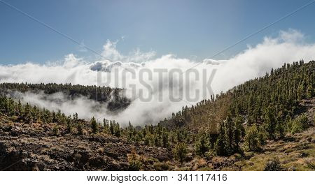 Landscape Of Tenerife Island With Inversion Weather