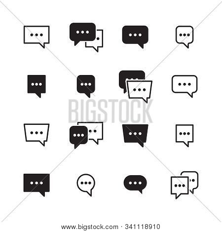 Dialog Bubbles. Talking Chatting Box Icons Vector Dialog Pictogram For Messengers. Box Dialog Talk,