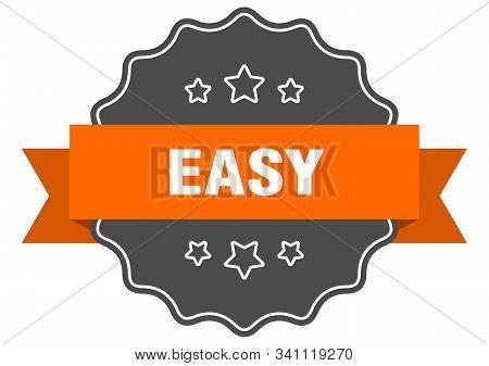 Easy Isolated Seal. Easy Orange Label. Easy