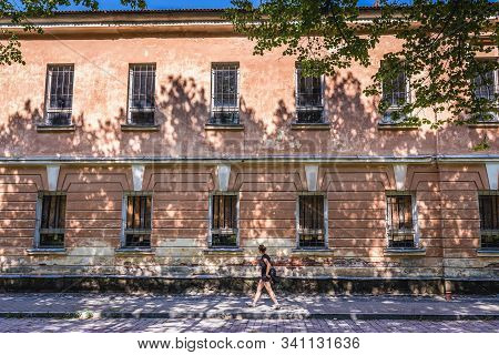 Daugavpils, Latvia - June 25, 2016: Old Desolate Building In The Area Of Daugavpils Fortress In Daug
