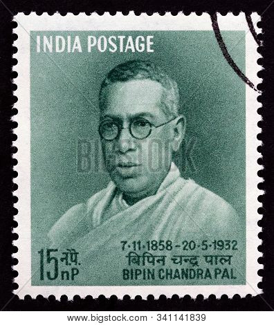India - Circa 1958: A Stamp Printed In India Issued For The 100th Anniversary Of The Birth Of Bipin
