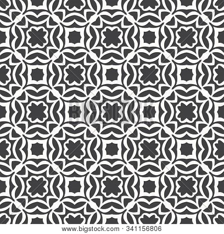 Seamless Geometric Vector Pattern. Abstract Pattern With Repeating Symmetric Shapes. Graphic Design