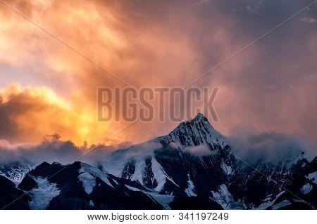 The Peak Of Kawagarbo Or Kawa Karpo  The Highest Mountain Between Yunnan And Tibet In China