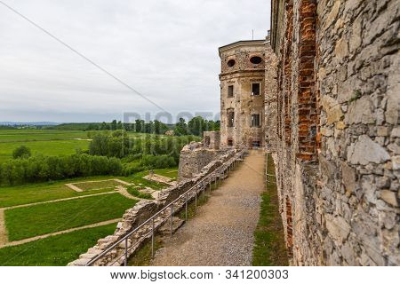 Ujazd, Poland- 23 May 2015: Exterior View Of The Ruins Of The Krzyztopor Palace In Ujezd. Destroyed