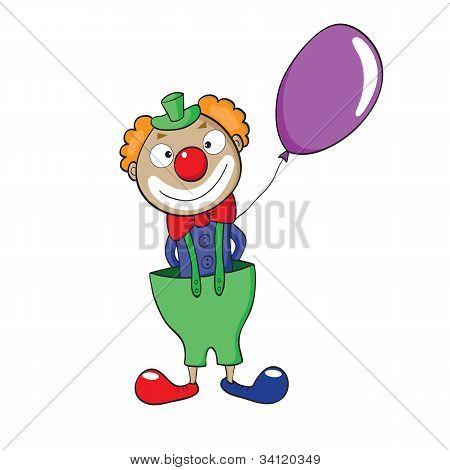 Clown With Balloon