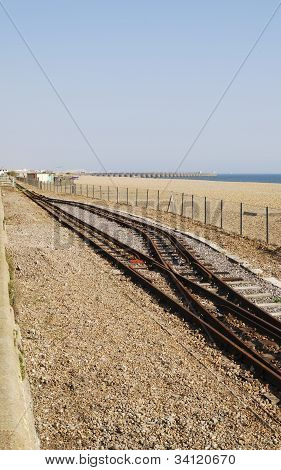 Volks Railway Track. Brighton Beach.