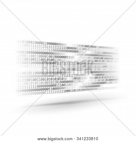 Halftone Binary Code. Information And Data Stream. Abstract Computer Technology Background. Dynamic