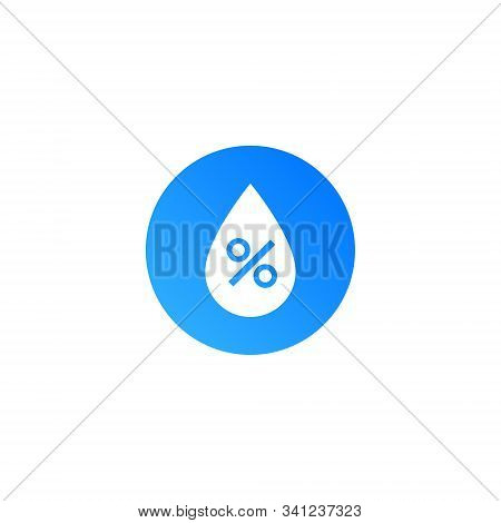 Humidity Water Icon. Vector Temperature Dry Air Humidity Icon Symbol