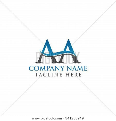 Aa Letter Logo With Creative Modern Business Typography Vector Template. Creative Alphabetical Aa Lo