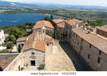 Overlooking of Populonia, Tuscany.