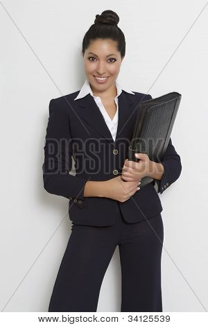 Young Female Executive In Business Suit
