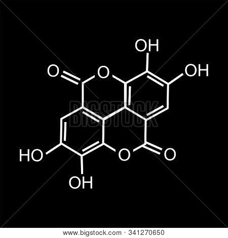 Chemical Formula Consisting Of Benzene Rings, Hexagon. Vector Illustration