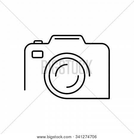 Black Line Icon For Camera  Photography Snapshot Technology