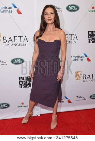 LOS ANGELES - SEP 21:  Catherine Zeta-Jones arrives to the BAFTA Los Angeles and BBC America TV Tea Party  on September 21, 2019 in Hollywood, CA