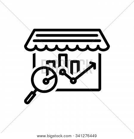 Black Line Icon For Market-analysis Market Analysis Bazaar Research