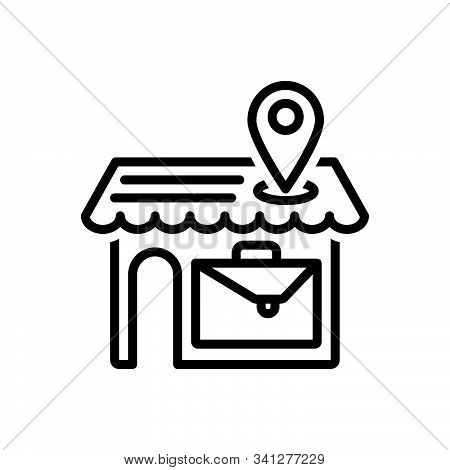 Black Line Icon For Local-business Local Business Spatial Endemic Marketing