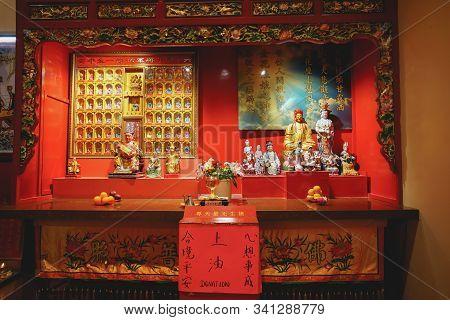 Kuala Lumpur, Malaysia - November 7, 2019: The Chinese Temple In Kuala Lumpur Named Guan Di Temple.