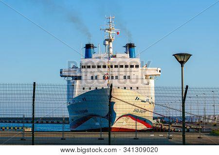 Sochi, Russia - July 28, 2019: Knyaz Vladimir, Prince Vladimir, Cruise Ship Parked In The Seaport. S