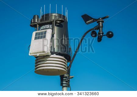 Cambara Do Sul, Brazil - July 16, 2019. Hydrometeorological Monitoring Device In Aparados Da Serra N