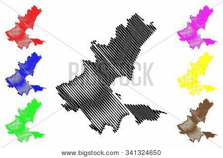Sarajevo Canton (bih, Federation Of Bosnia And Herzegovina, Fbih) Map Vector Illustration, Scribble