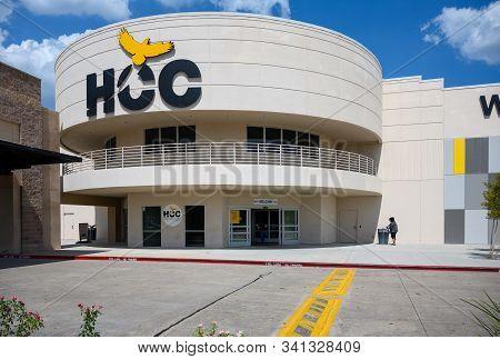 Houston, Texas - June 26, 2019: Houston Community College (hcc), West Loop Campus. Hcc Is An Open-ad