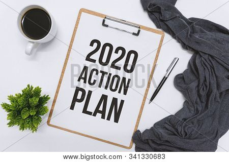 New Year 2020, 2020 Colorful Text Isolated On Black Background, 2020 Text For Calendar New Years, Ha