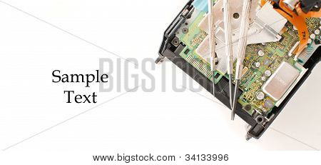 Electrical Components With Space For Text
