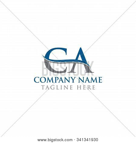 Initial Ca Letter Logo With Water Wave Business Typography Vector Template. Creative Abstract Letter
