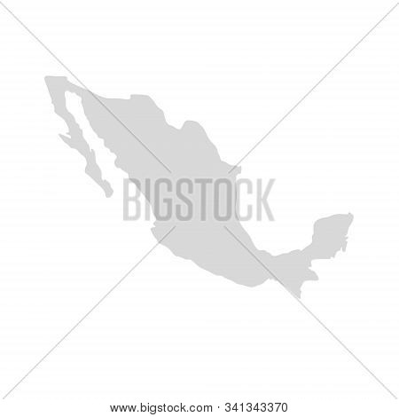 Mexico Vector Map Icon. Mexico Country America Map, Mexican Territory