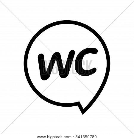 Male Female Bathroom Wc Icon. Restroom Boy Or Girl Lady Sign Symbol. Toilet Wc Vector Concept