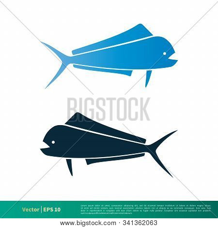 Blue Dorado Fish Icon Vector Logo Template Illustration Design. Vector Eps 10.