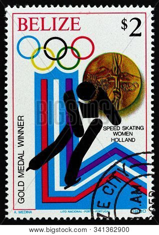 Belize - Circa 1980: A Stamp Printed In Belize From The