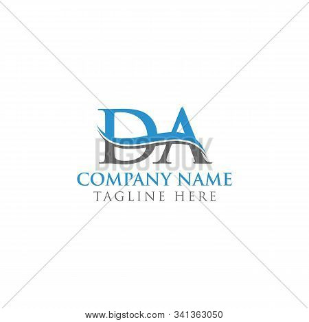 Initial Da Water Wave Letter Logo With Creative Modern Typography Vector Template. Da Logo Design